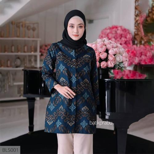 Foto Produk Baju Batik Wanita Dress Batik Atasan Batik Wanita Blouse Kantor GW11 - 5L dari Bunayyastore