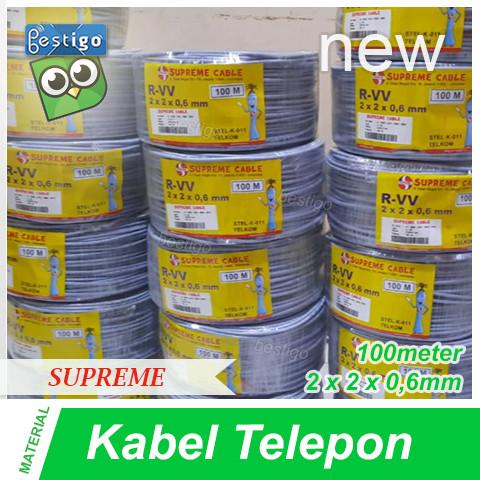 Foto Produk Kabel Telepon Supreme 2 Pair 100M dari BESTIGO PABX TELEPON