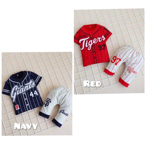 Foto Produk Setelan Baju Bayi Laki-laki Motif Sporty Size 6 bulan - 3 tahun - Navy, 2 (1 thn) dari Yotie Shop