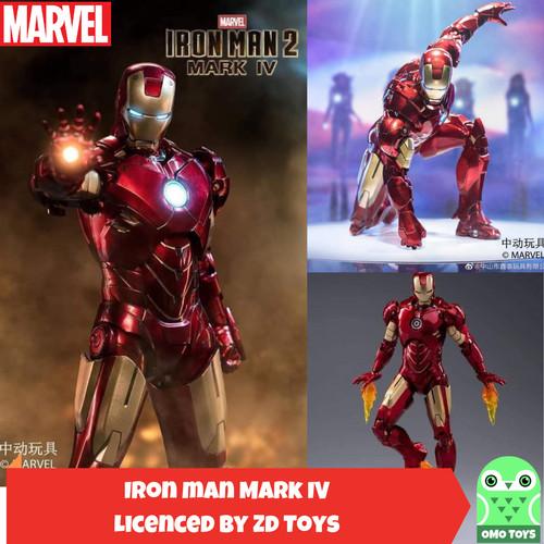 Foto Produk Marvel ZD Toys Ironman 2 Mark 4 ironman MK IV Original Iron man dari omotoys