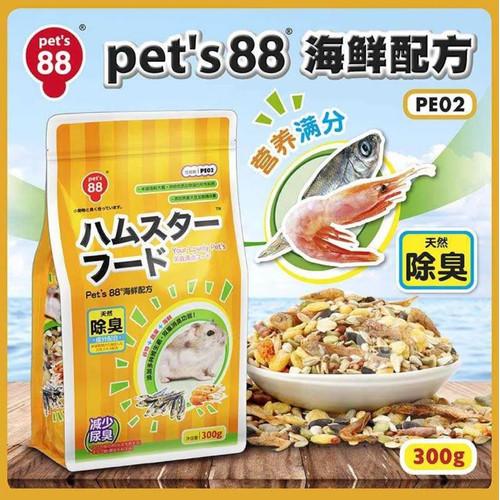 Foto Produk PE02 Pet's 88 Hamster Main Food 300gr - EXP 2022-02 dari Hime petshop