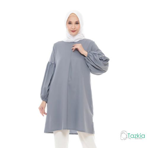 Foto Produk Atasan Muslim Wanita | Noya Tunik Abu | S M L XL | Original - M dari Tazkia Hijab Store