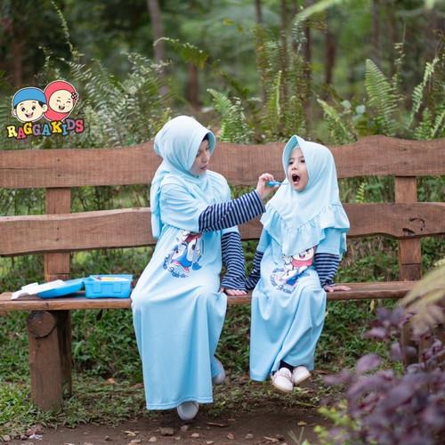 Foto Produk Baju Gamis Anak Perempuan Raggakids Rg17 Bahan Kaos Usia 2 - 11 Tahun - XS dari aisha89