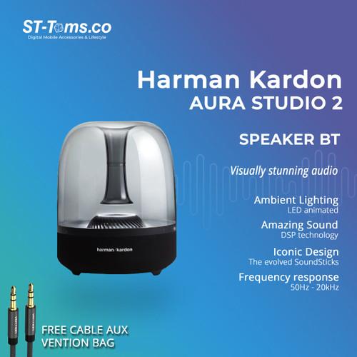 Foto Produk Harman Kardon Aura Studio 2 Wireless Bluetooth Speaker - Hitam - Free Aux dari ST-Toms.co