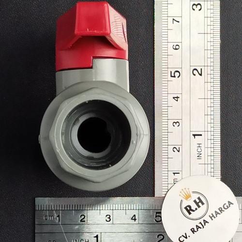 """Foto Produk Stop Kran / Ball Valve PVC 1/2"""" / Tebal Berkualitas dari CV RAJA HARGA"""