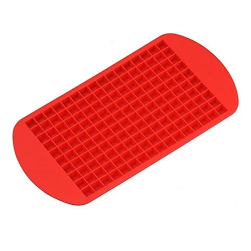 Foto Produk Cetakan Es Batu Silikon Kecil 160 Sekat Ice Cube Silicone Tray Mold - Merah dari Central Electronic