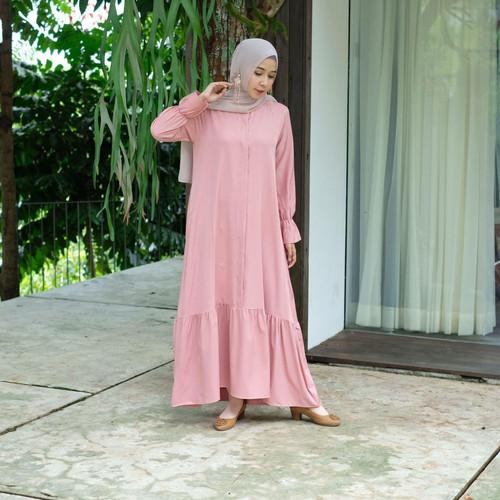 Foto Produk [REAL PICTURE] NELZY DRESS HAZELNUT IMPORT TANAH ABANG PGMTA METRO - DUSTY dari FaVia Shop
