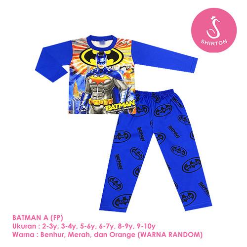 Foto Produk Baju Setelan Anak Laki-Laki Panjang Full Print Batman Shirton - BATMAN A FP, 2-3y Panjang dari shirton