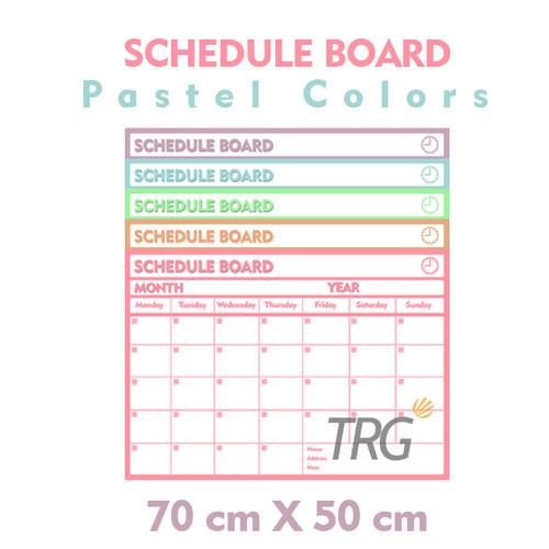 Foto Produk Schedule Board Pastel TRG - Papan Jadwal Papan Whiteboard Flexible TRG - Blue dari TRG Official Shop