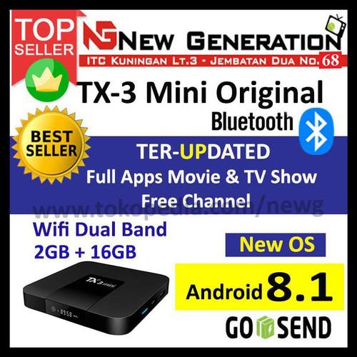 Foto Produk OS 7.1.2 Android Tv Box TANIX TX3 mini RAM 2GB ROM 16GB KODI Addons dari New Generation