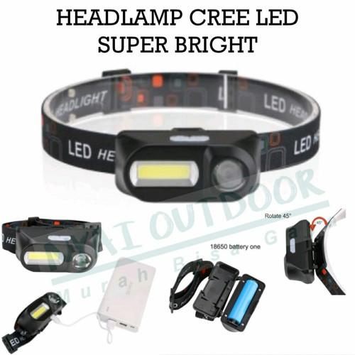 Foto Produk headlamp senter kepala led super bright - batreai 18650 dari Nyai Outdoor