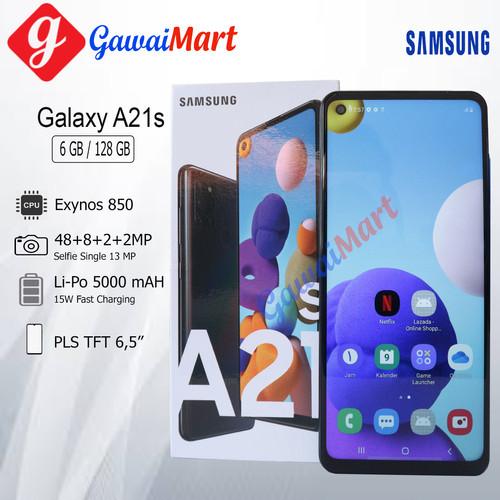 Foto Produk SAMSUNG GALAXY A21s 6/128GB RAM 6GB ROM 128GB GARANSI RESMI - Silver dari Gawai Mart