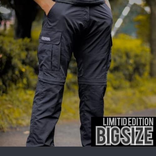 Foto Produk celana gunung celana sambung size besar bahan quick dry avaress 3XL - Hitam, XXXL dari Avares store
