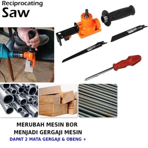 Foto Produk Adaptor Bor Drill Menjadi Gergaji Jig Saw Konverter Mesin Bor Jigsaw. dari gapura tools
