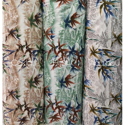 Foto Produk Kain katun jepang tokai senko motif view / summer[HARGA PER 0,5 Meter] - Cokelat dari Klarisma Textile