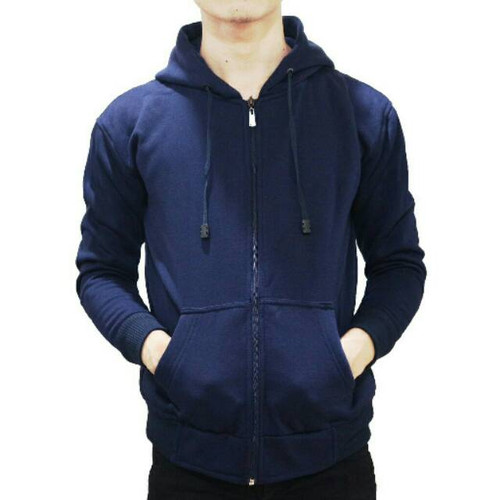 Foto Produk Best seller !!! Jaket Sweater Polos Hoodie Zipper/Resleting Navy - ZIPPER NAVY, M dari stuvco.sportswear