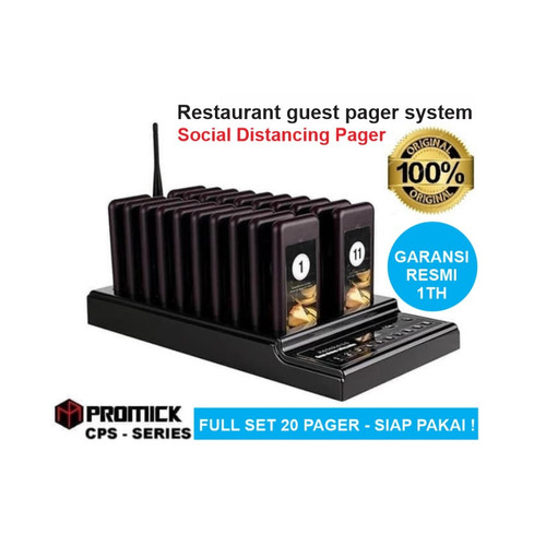 Foto Produk Restaurant Guest Pager System - Wireless Queue Paging PROMICK CPS-T112 dari EtalaseBelanja