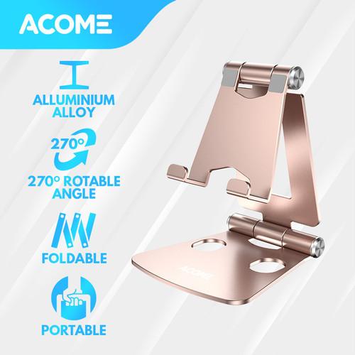 Foto Produk ACOME Phone Holder Tablet iPad iPhone Android Still Alluminium Alloy - Golden dari Acome Indonesia
