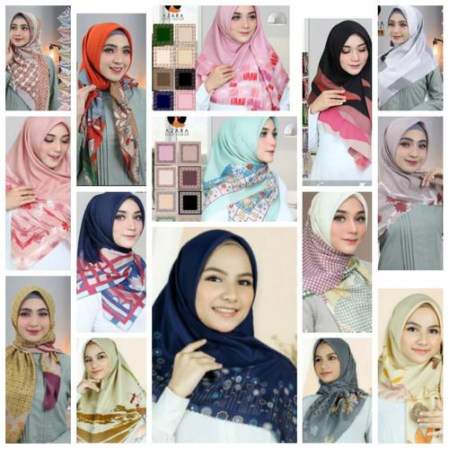 Foto Produk Hijab Kerudung Jilbab Segi Empat Katun Voal Motif LASERCUT AZARA Impor dari Colorvertia