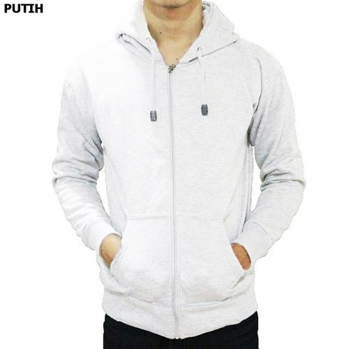 Foto Produk Best seller !!! Jaket Sweater Polos Hoodie Zipper/Resleting Putih - ZIPPER PUTIH, M dari stuvco.sportswear