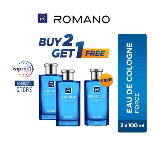 Foto Produk Romano Eau De Cologne Force 100Ml - BUY 2 GET 1 FREE dari Wipro Unza Official