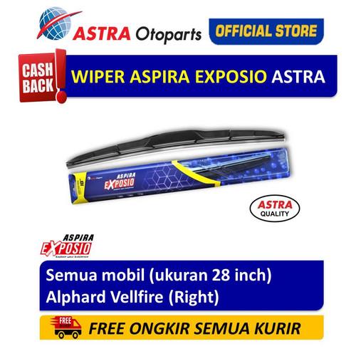 Foto Produk Wiper Blade Hybrid Graphite ASPIRA EXPOSIO Alphard Vellfire 28 inch dari Astra Otoparts