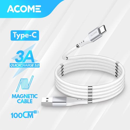 Foto Produk Acome Kabel Self Winding Magnetic Fast Charging 3A ATC010 – Type C - Type-C dari Acome Indonesia