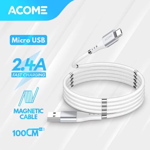 Foto Produk Acome Kabel Self Winding Magnetic Fast Charging 3A ATC010 – Type C - Micro USB dari Acome Indonesia