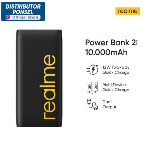 Foto Produk Realme Powerbank Power Bank 2i 10000mAh Quick Charge Dual Output dari Distributor Ponsel