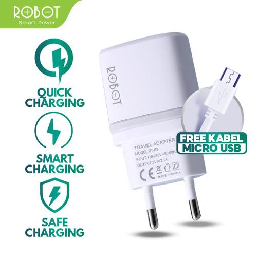 Foto Produk Robot Charger RT-K9 Dual USB Charger Handphone Charger Iphone Original dari ROBOT OFFICIAL SHOP
