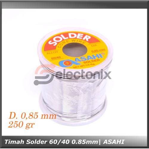 Foto Produk Timah Solder ASAHI 0.85 mm 60/40 1/4 Kg dari Selectonix