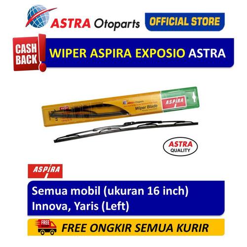 Foto Produk Wiper Blade ASPIRA: Innova, Yaris (L) (ukuran 16 inch) dari Astra Otoparts