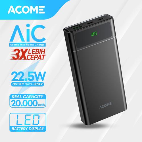 Foto Produk ACOME Powerbank 20000mAh Fast Charging QC3.0 PD VOOC SCP Dash AP201 - Powerbank AP201 dari Acome Indonesia