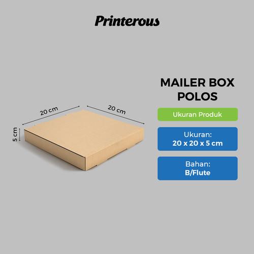 Foto Produk Corrugated Box - Mailer Box Polos / Box Pizza Polos 20x20x5 cm dari Printerous
