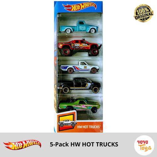 Foto Produk Hot Wheels Hot Trucks 5 Pack Gift Pack Hotwheels Mainan Diecast dari Vovo Toys
