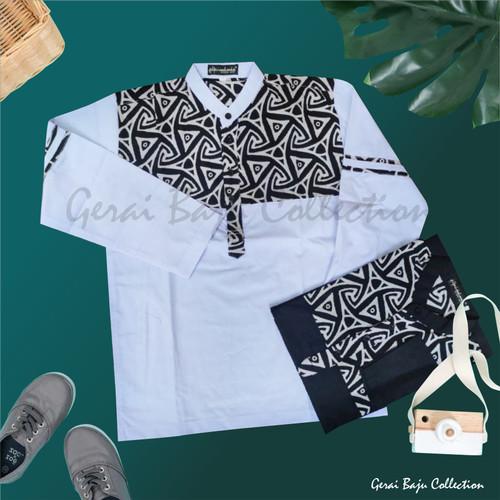 Foto Produk Baju Koko Batik Anak Laki Laki Atasan Muslim Anak Koko Anak Usia 10-13 - Putih, 10-11 tahun dari Gerai Baju Collection