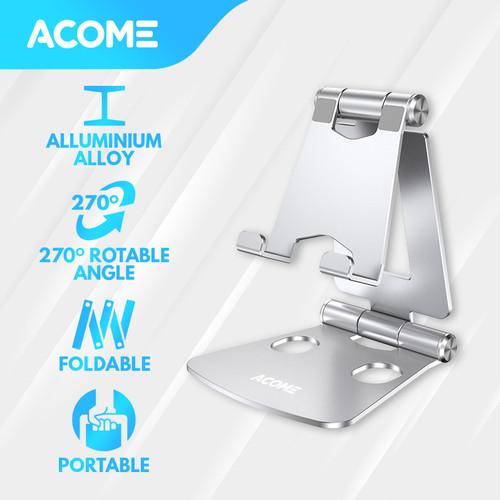 Foto Produk ACOME Phone Holder Tablet iPad iPhone Android Still Alluminium Alloy - Silver dari Acome Indonesia