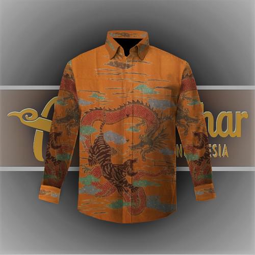 Foto Produk Kain Kemeja Batik Sutera Baron ATBM Premium Tulis (71) dari Batik Athar
