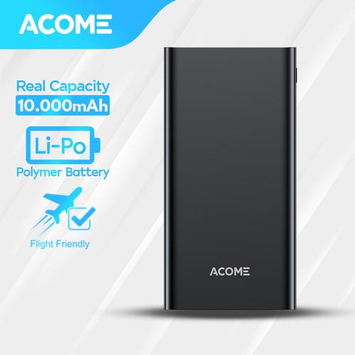 Foto Produk ACOME Powerbank 10000mAh 2 USB Output - Garansi Resmi 18 Bulan - AP103 - Hitam dari Acome Indonesia