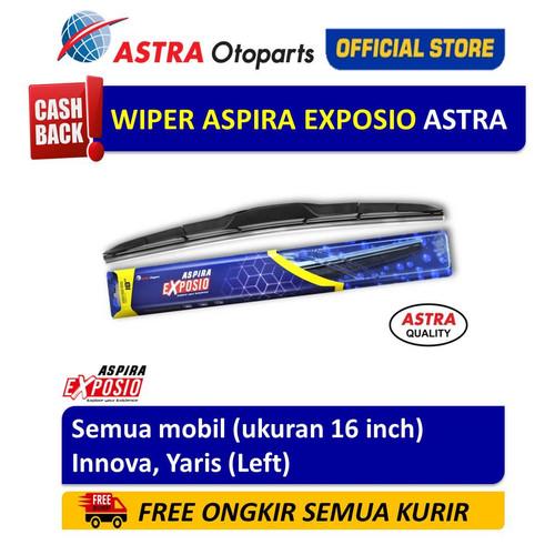 Foto Produk Wiper Blade Hybrid Graphite ASPIRA EXPOSIO Innova,Yaris ukuran 16 inch dari Astra Otoparts