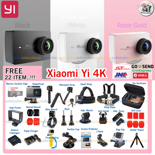 Foto Produk Xiaomi Yi 4K / Xiaomi Yi Action 4K Paket Mantul 22 item - Putih dari SukeSuke90