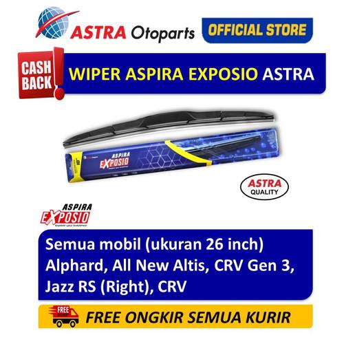 Foto Produk Wiper Blade Hybrid Graphite ASPIRA EXPOSIO Alphard,Jazz RS,CRV 26 inch dari Astra Otoparts