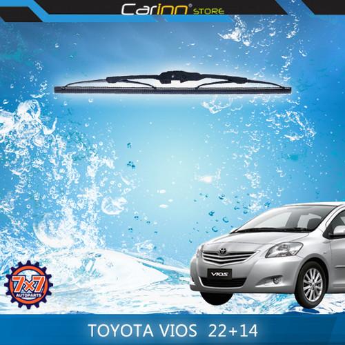 """Foto Produk 7x7 Sepasang Wiper Kaca Depan Toyota Vios 2003-2007 22"""" & 14"""" dari Carinn Store"""