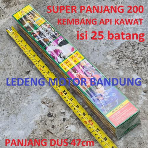 Foto Produk Kembang Api Pendekar isi 25pc Kawat Pegang Anak Super Panjang Dus 50cm dari Ledeng Motor Bandung