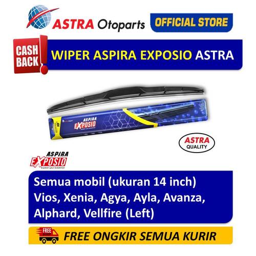 Foto Produk Wiper Blade Hybrid Graphite ASPIRA EXPOSIO Agya,Avanza ukuran 14 inch dari Astra Otoparts