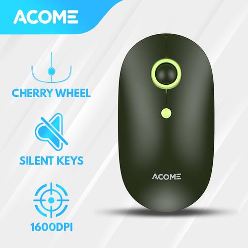 Foto Produk Acome Mouse Fashion Color Wireless Silent Click Ergonomic AM300 - Avocado Green dari Acome Indonesia