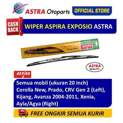 Foto Produk Wiper Blade ASPIRA:Corolla,Prado,CRV,Kijang,Avanza,Agya(ukuran 20inch) dari Astra Otoparts