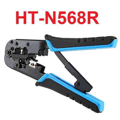 Foto Produk Crimping Tool 8P 6P RJ45 RJ11 RJ12 LAN Network Strip Cutter HT-568R dari Rumix
