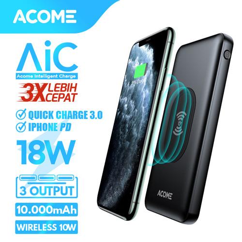 Foto Produk ACOME Powerbank 10000mAh Wireless Charge AiC QC3.0 iPhone PD dari Acome Indonesia