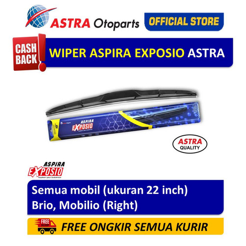 Foto Produk Wiper Blade Hybrid Graphite ASPIRA EXPOSIO Brio,Mobilio ukuran 22 inch dari Astra Otoparts